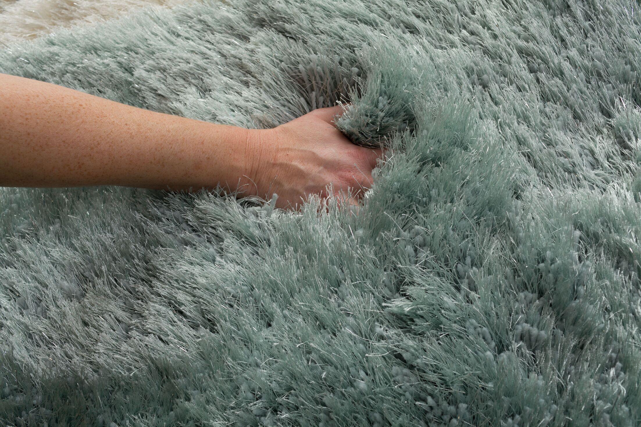Somerville Hand-Tufted Aqua Area Rug Rug Size: 5' x 7'6