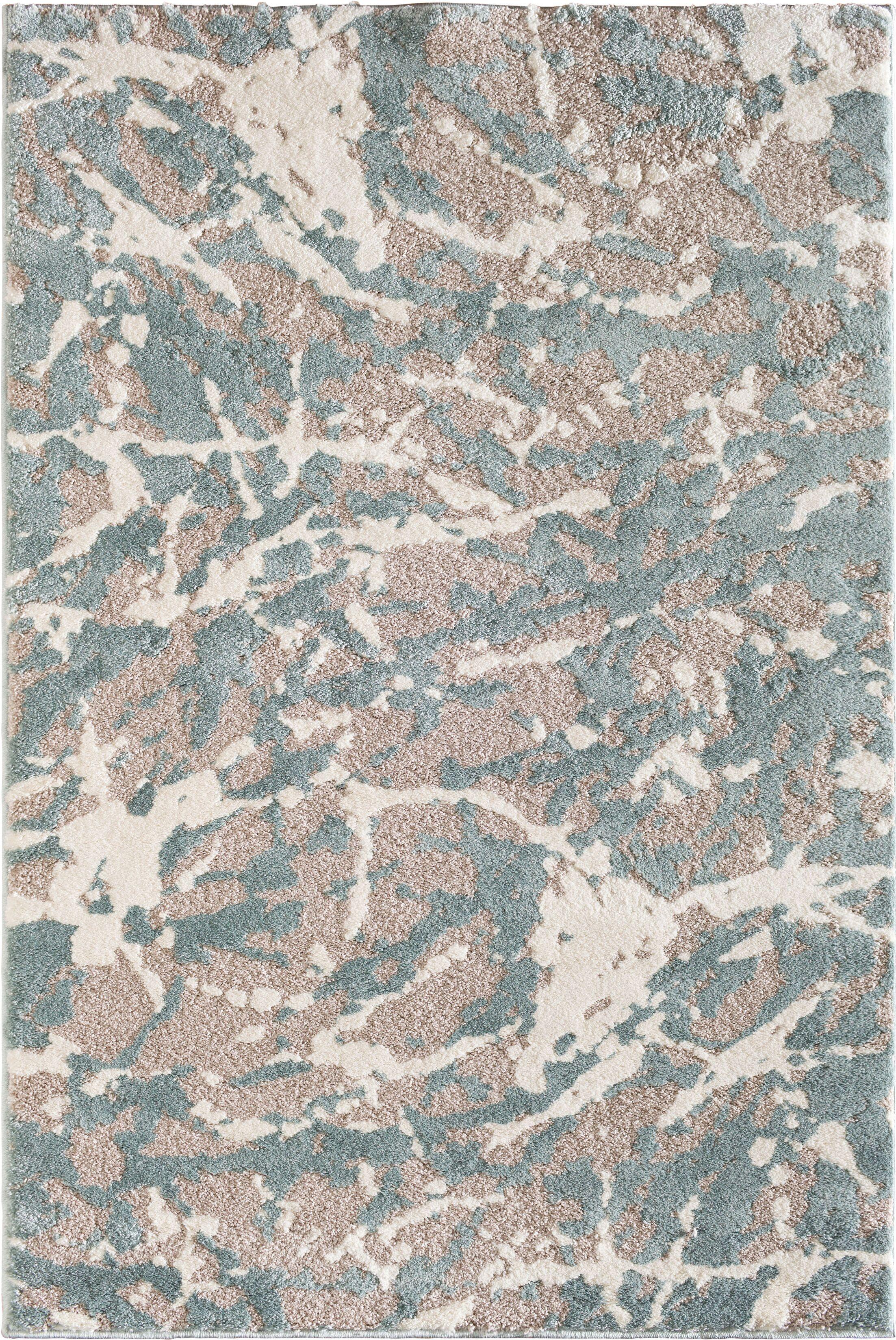 Wabasha Glass Gray/White Area Rug Rug Size: 7'10