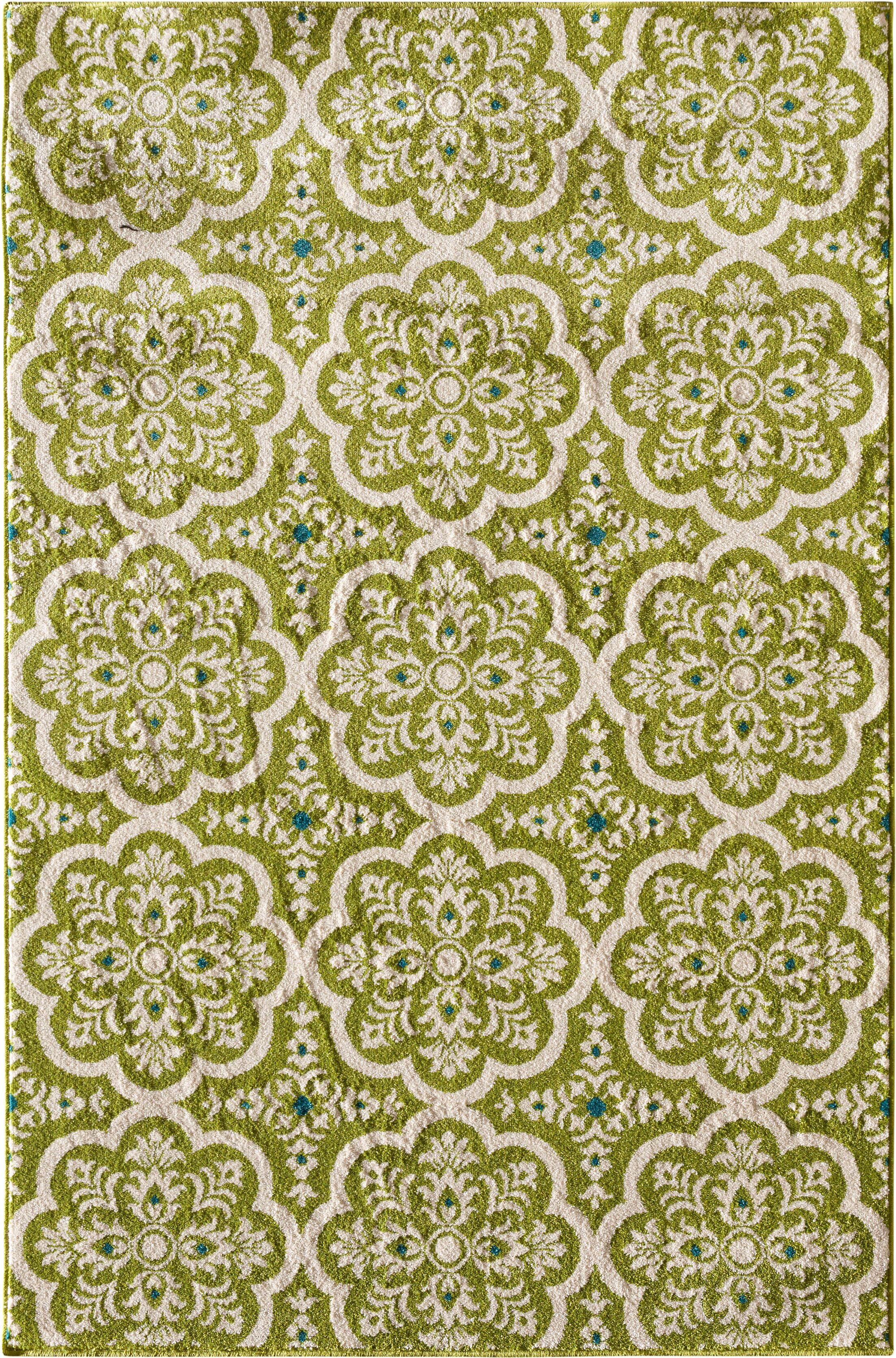 Merdasa Green Area Rug Rug Size: Rectangular 6'7