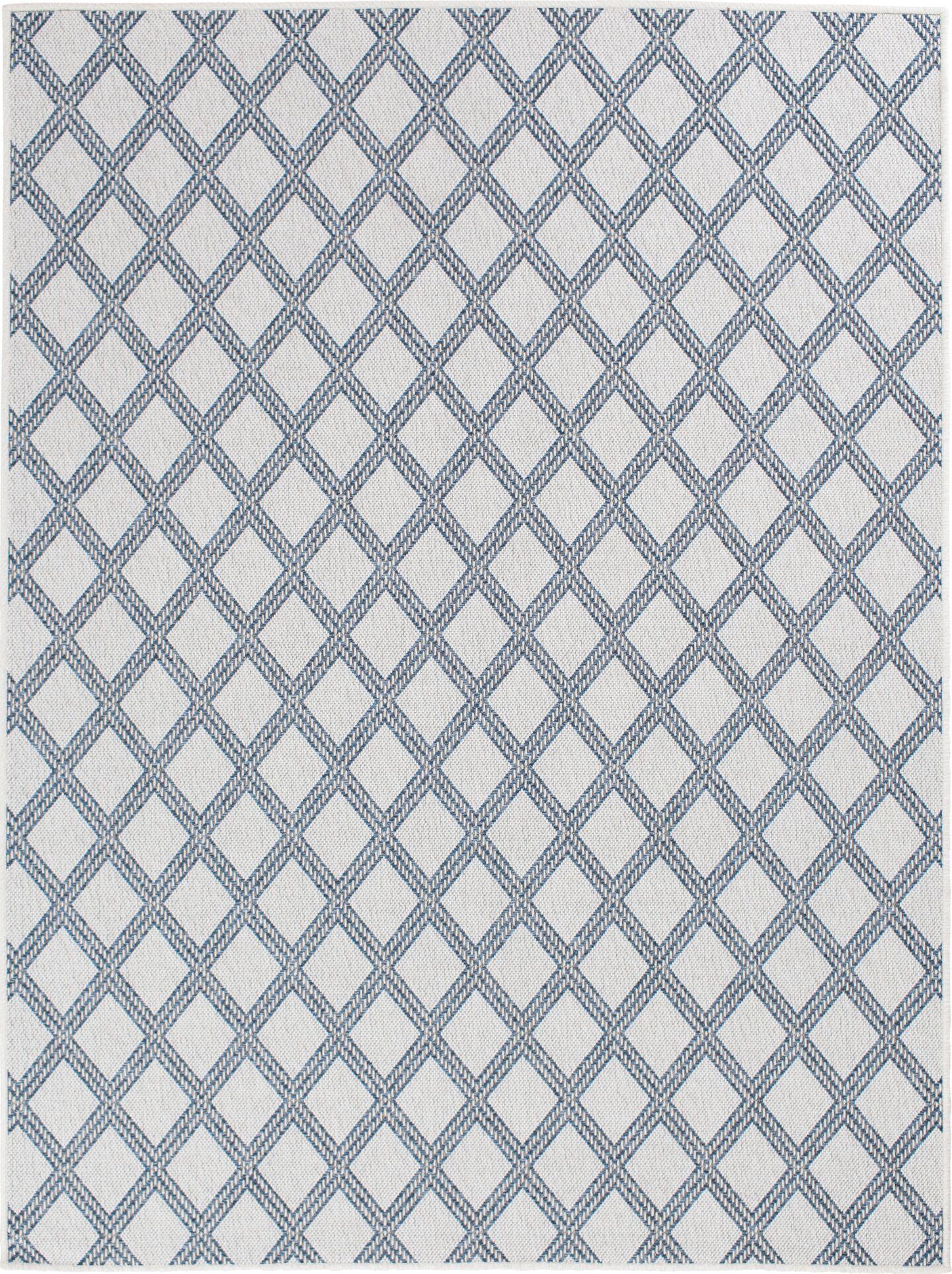Almeda Diamond Gray Area Rug Rug Size: Rectangle 6'7