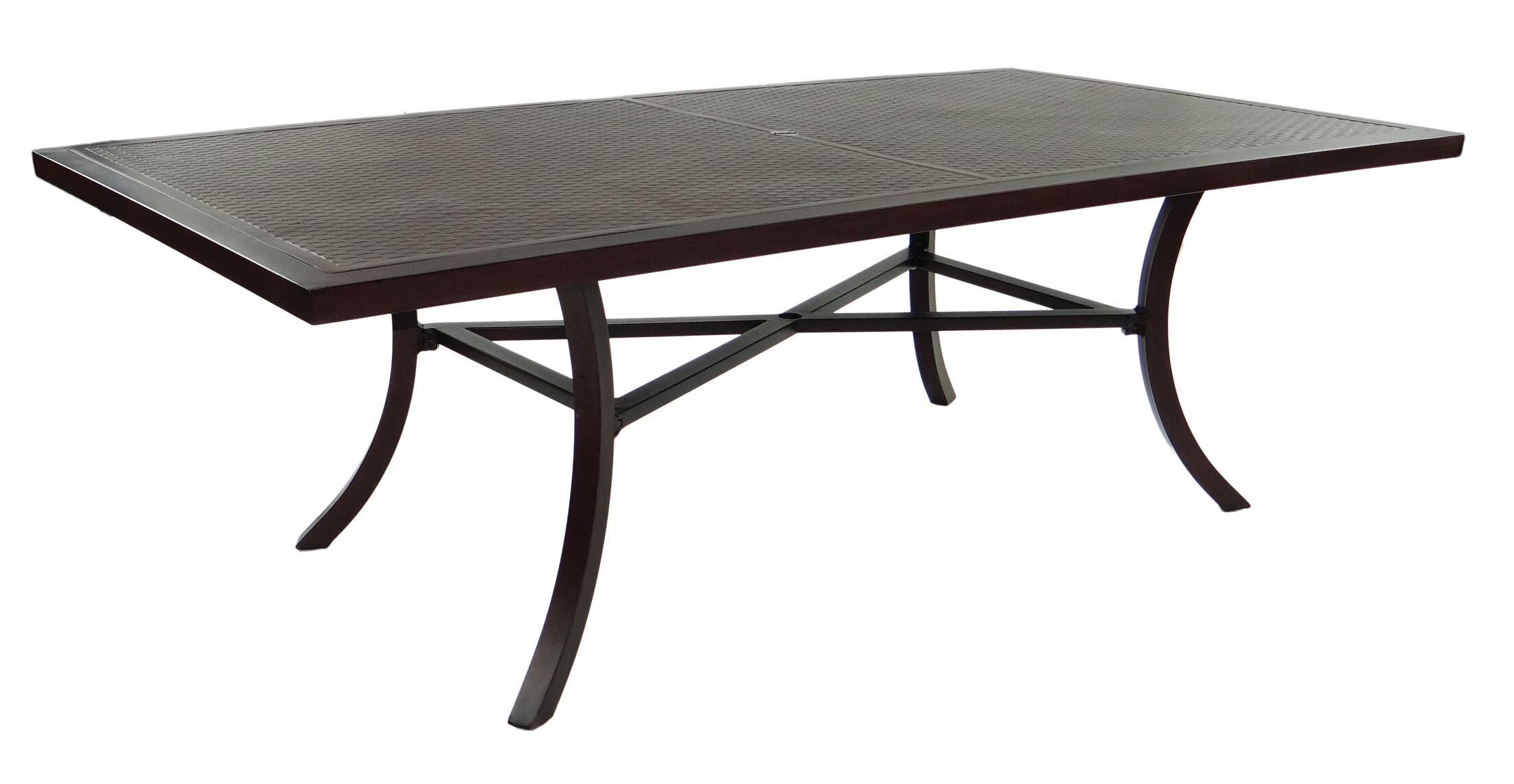 Tarvin Classical Aluminum Dining Table Finish: Antique Dark Rum