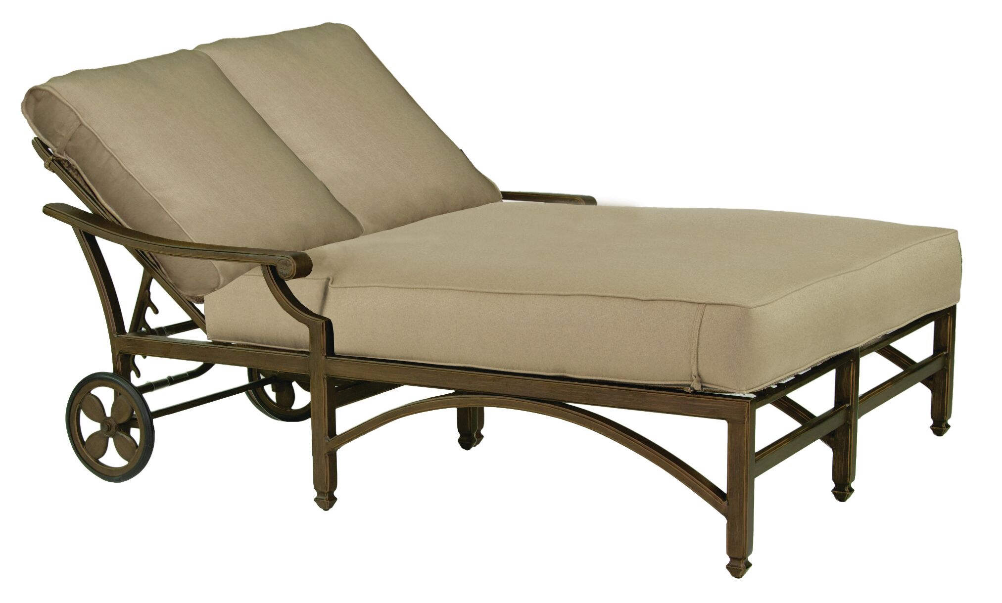 Grand Regent Double Chaise Lounge with Cushion