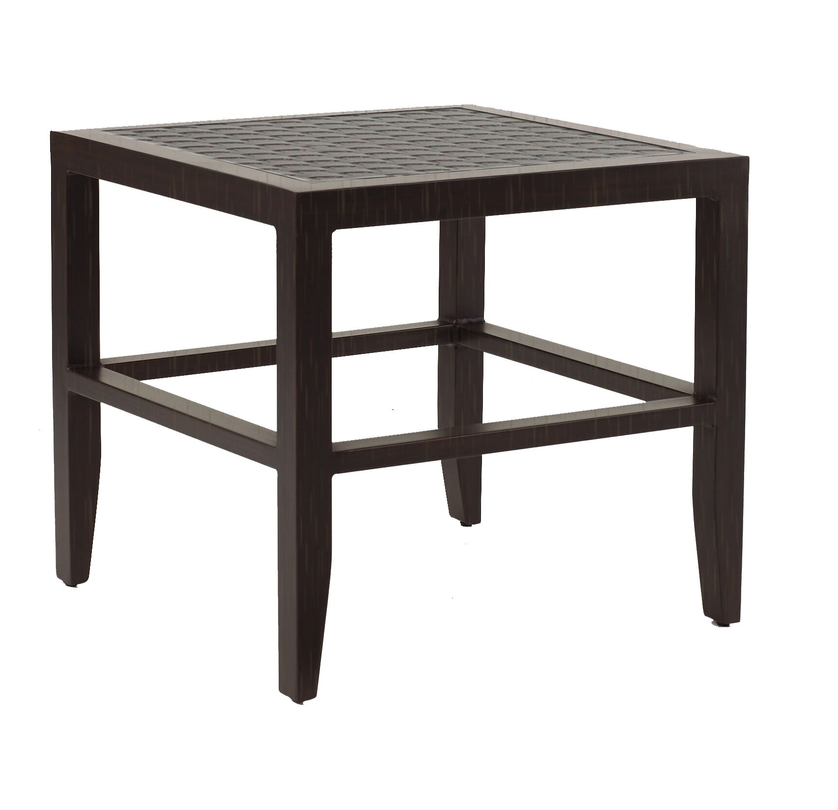 Tarver Classical Aluminum Side Table Finish: Dark Rum Gold