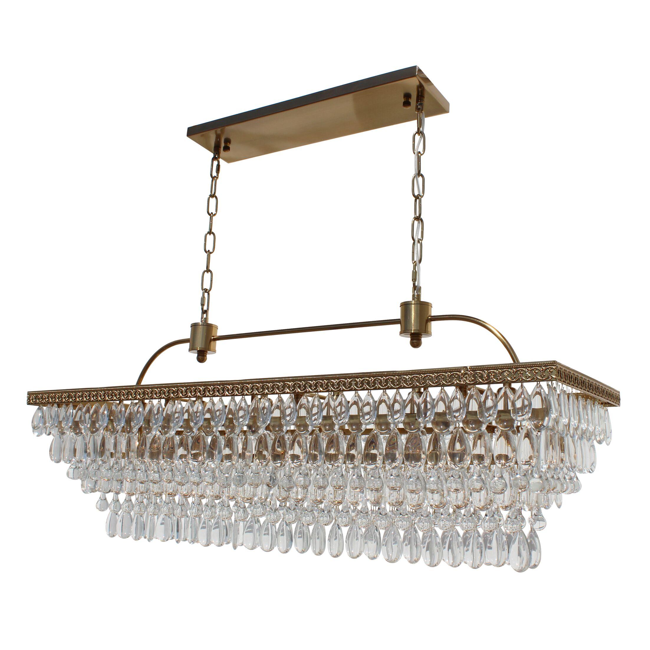 Dix 6-Light Crystal Chandelier Finish: Brass