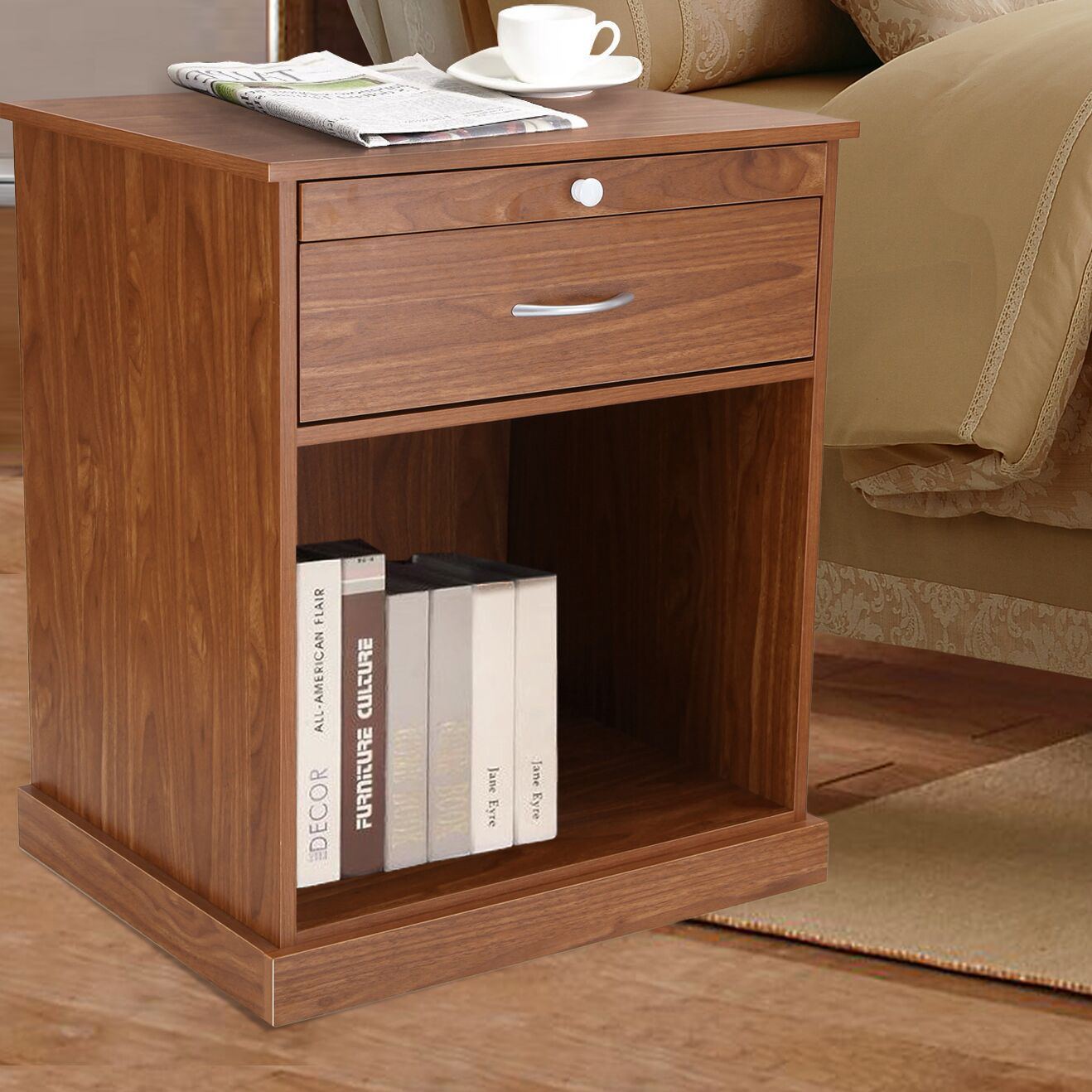 1 Drawer Nightstand Color: Oiled Oak