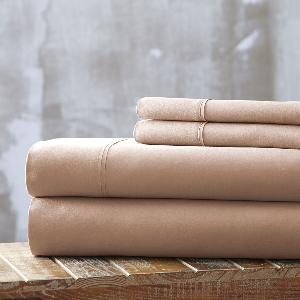 Bailee 4 Piece Sheet Set Color: Champagne, Size: King