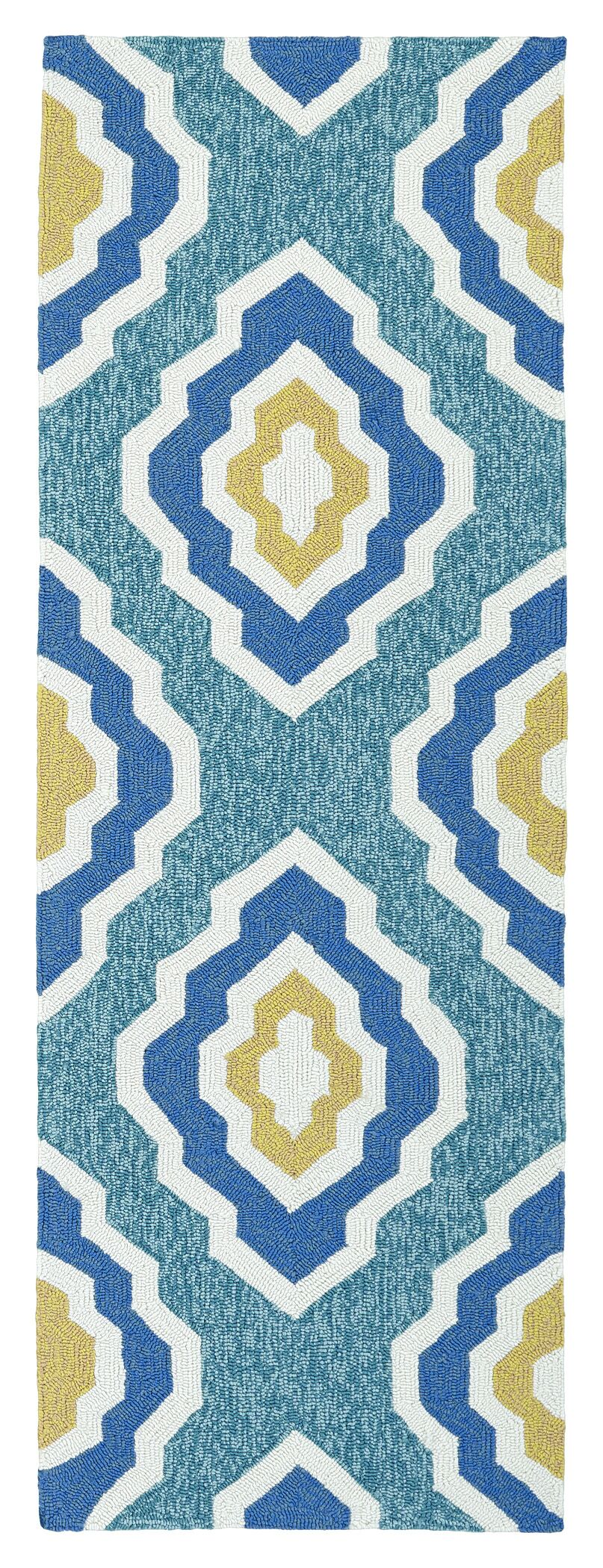 Escape Hand-Tufted Blue Indoor/Outdoor Area Rug Rug Size: Rectangle 5' x 7'6