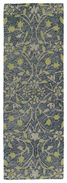 Merrisa Handmade Yellow Indoor/Outdoor Area Rug Rug Size: Runner 3' x 10'