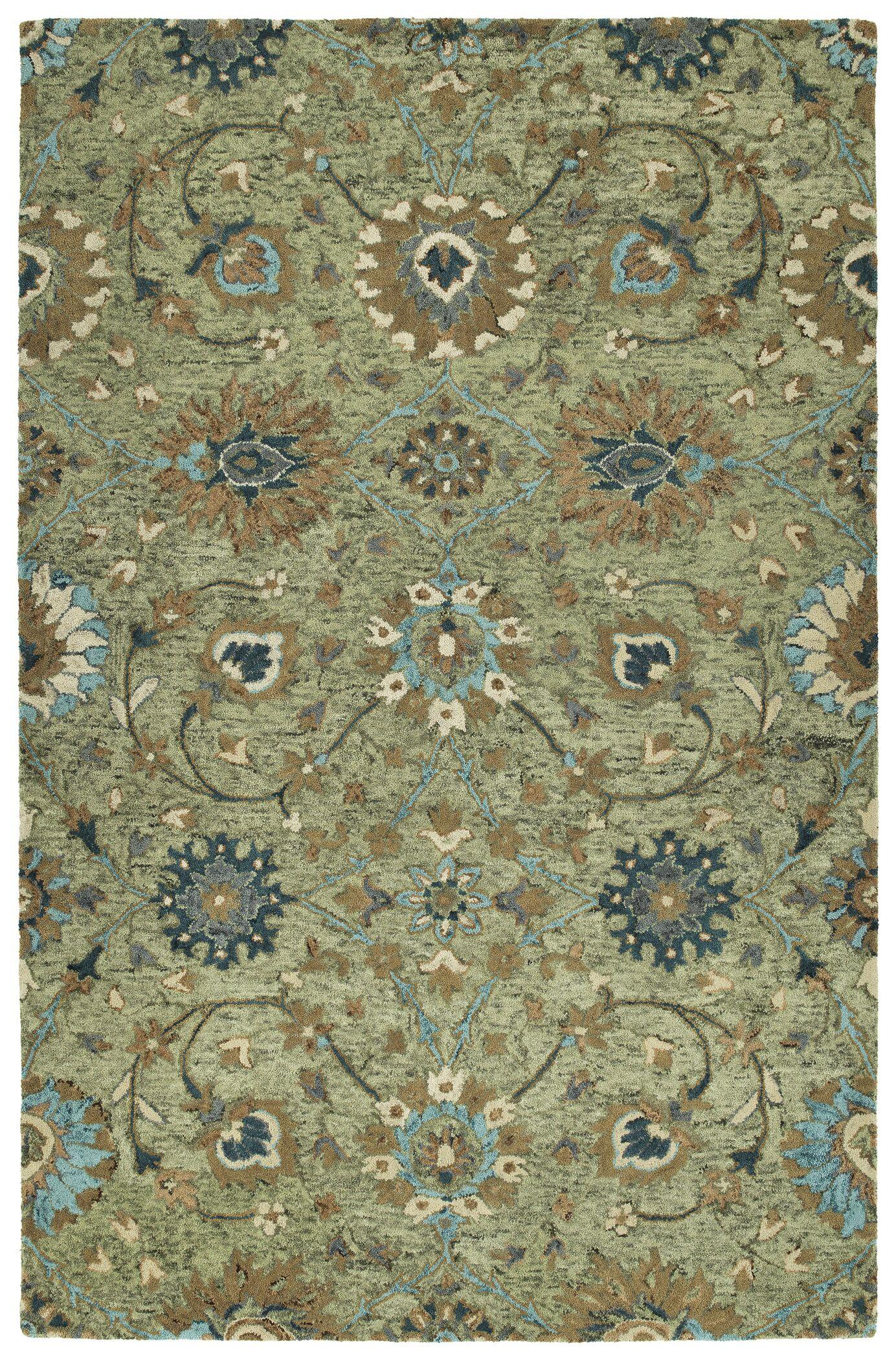 Toshiro Hand Tufted Wool Sage Area Rug Rug Size: Rectangle 8' x 10'