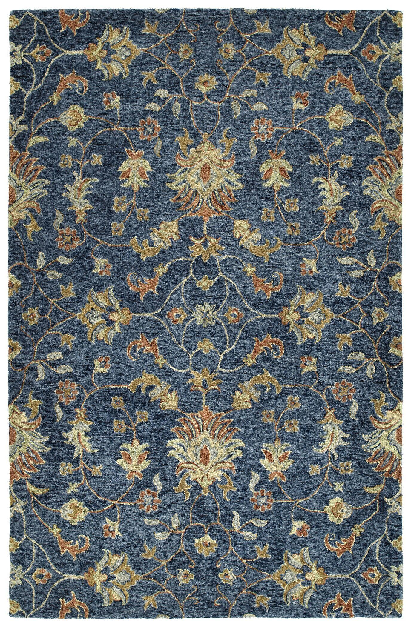 Toshiro Hand Tufted Wool Denim Area Rug Rug Size: Rectangle 10' x 14'