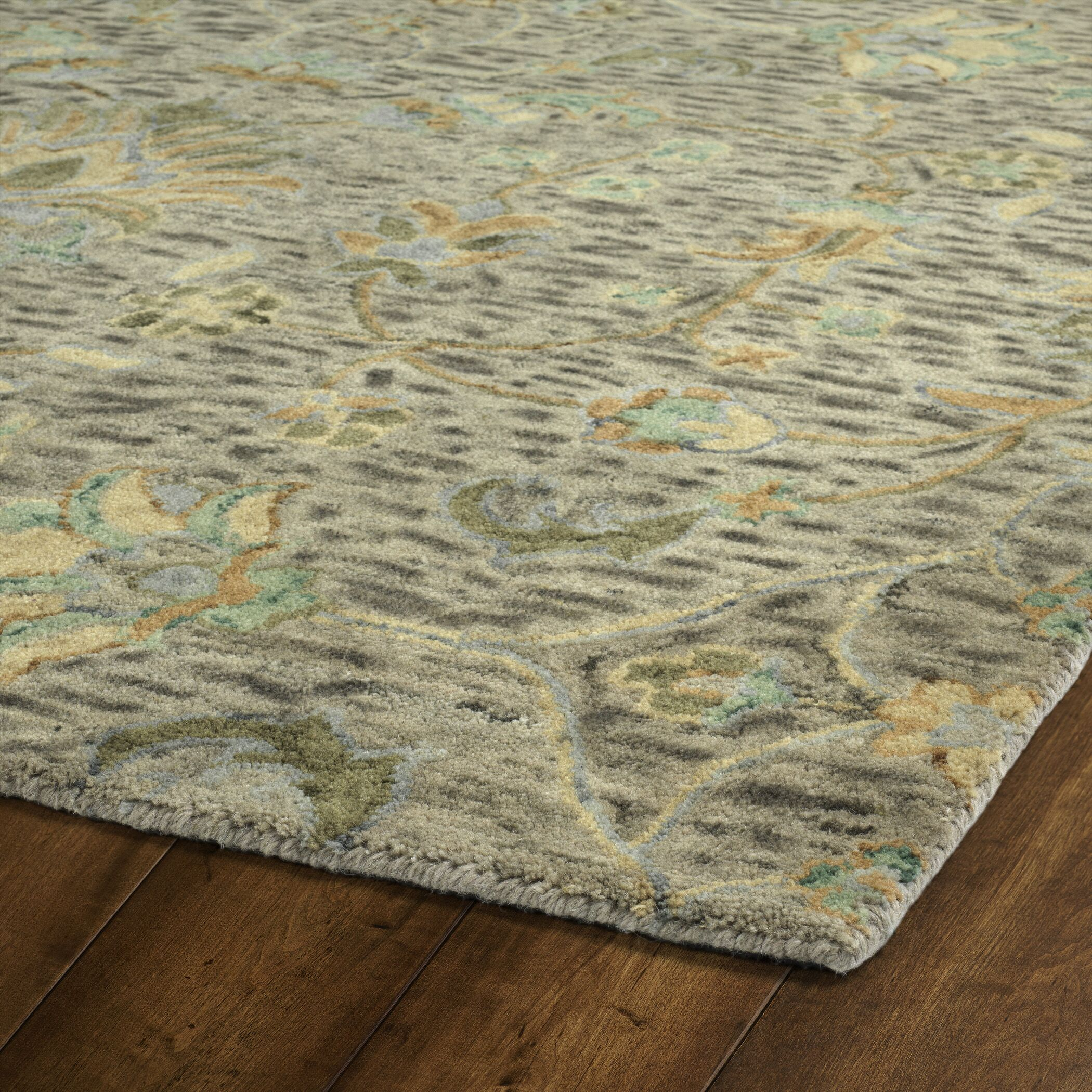 Toshiro Hand Tufted Wool Taupe Area Rug Rug Size: Runner 2'6