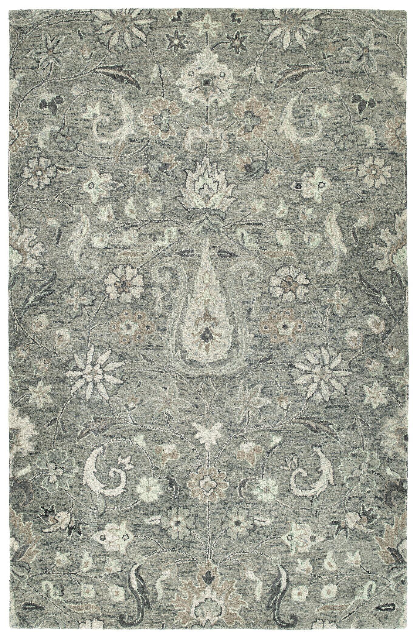 Toshiro Hand Tufted Wool Gray Area Rug Rug Size: Rectangle 4' x 6'