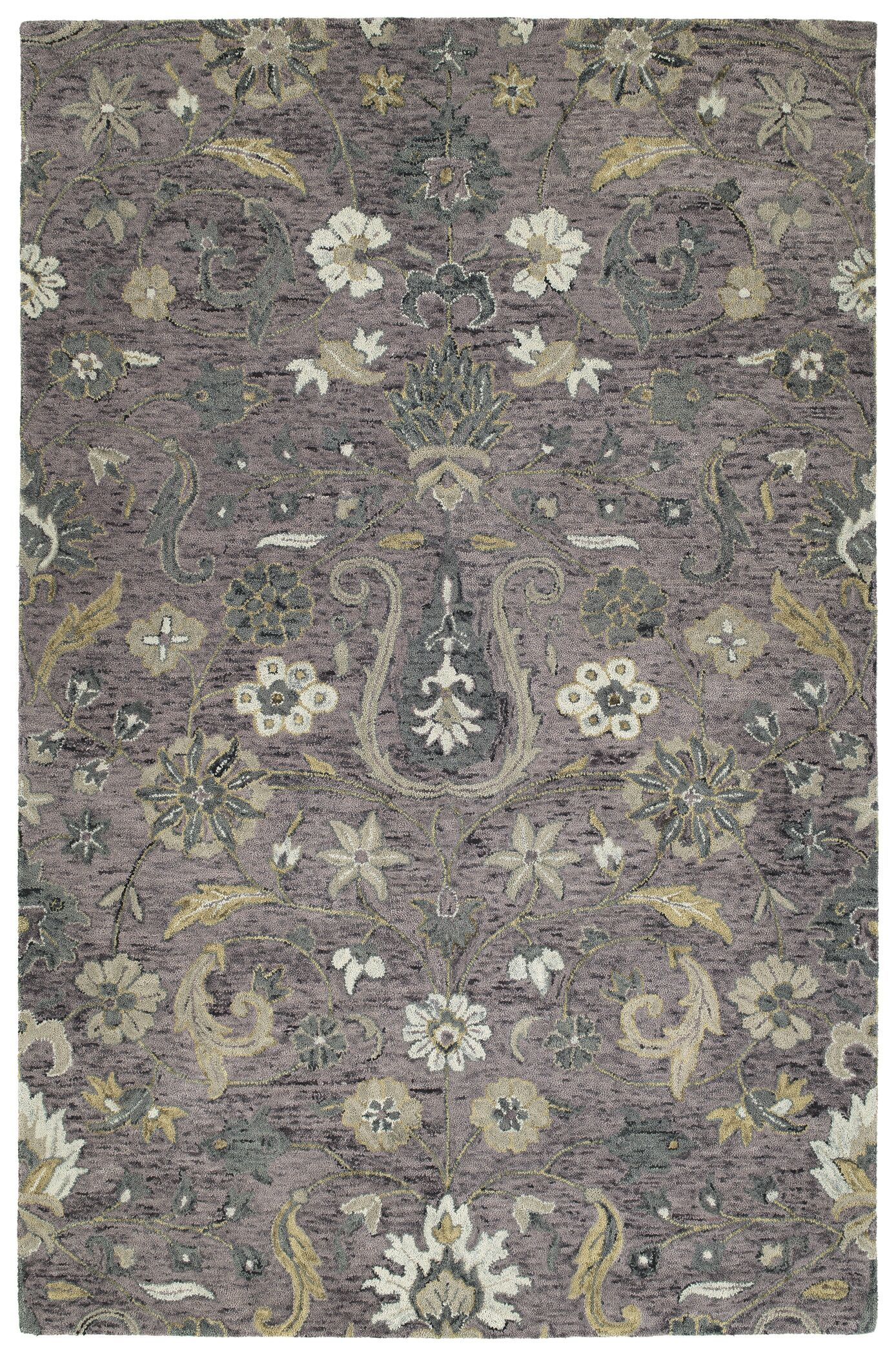 Toshiro Hand Tufted Wool Lilac Area Rug Rug Size: Rectangle 8' x 10'