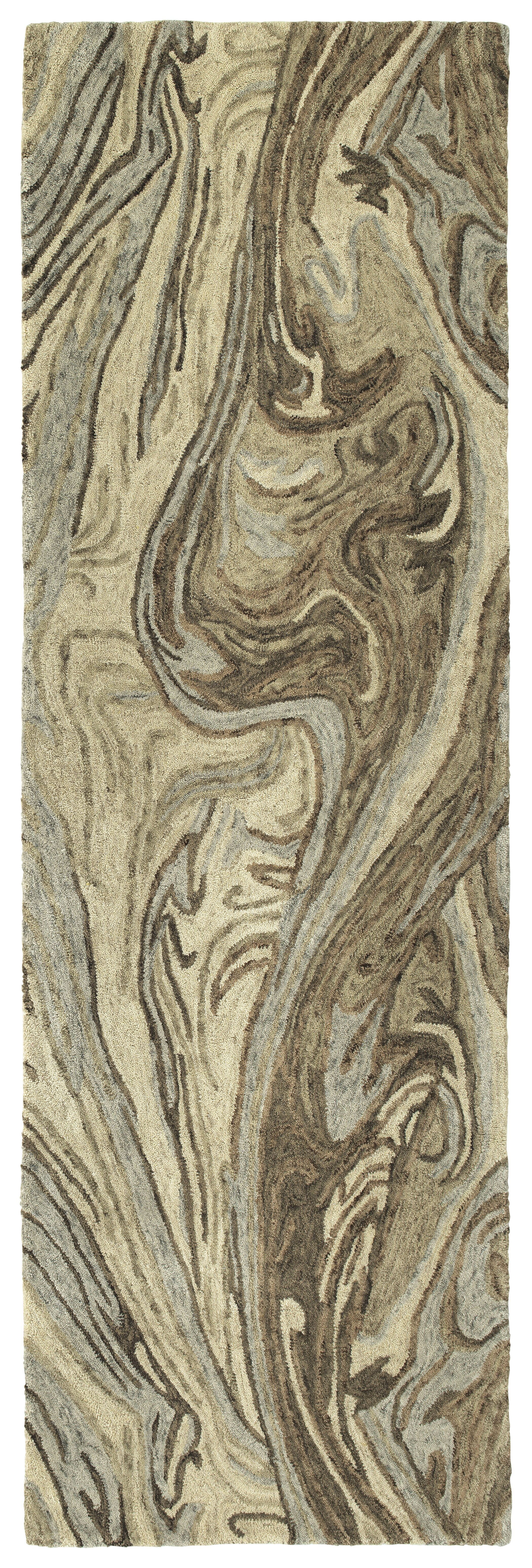 Bargas Hand Tufted Wool Sand Area Rug Rug Size: Runner 2'6
