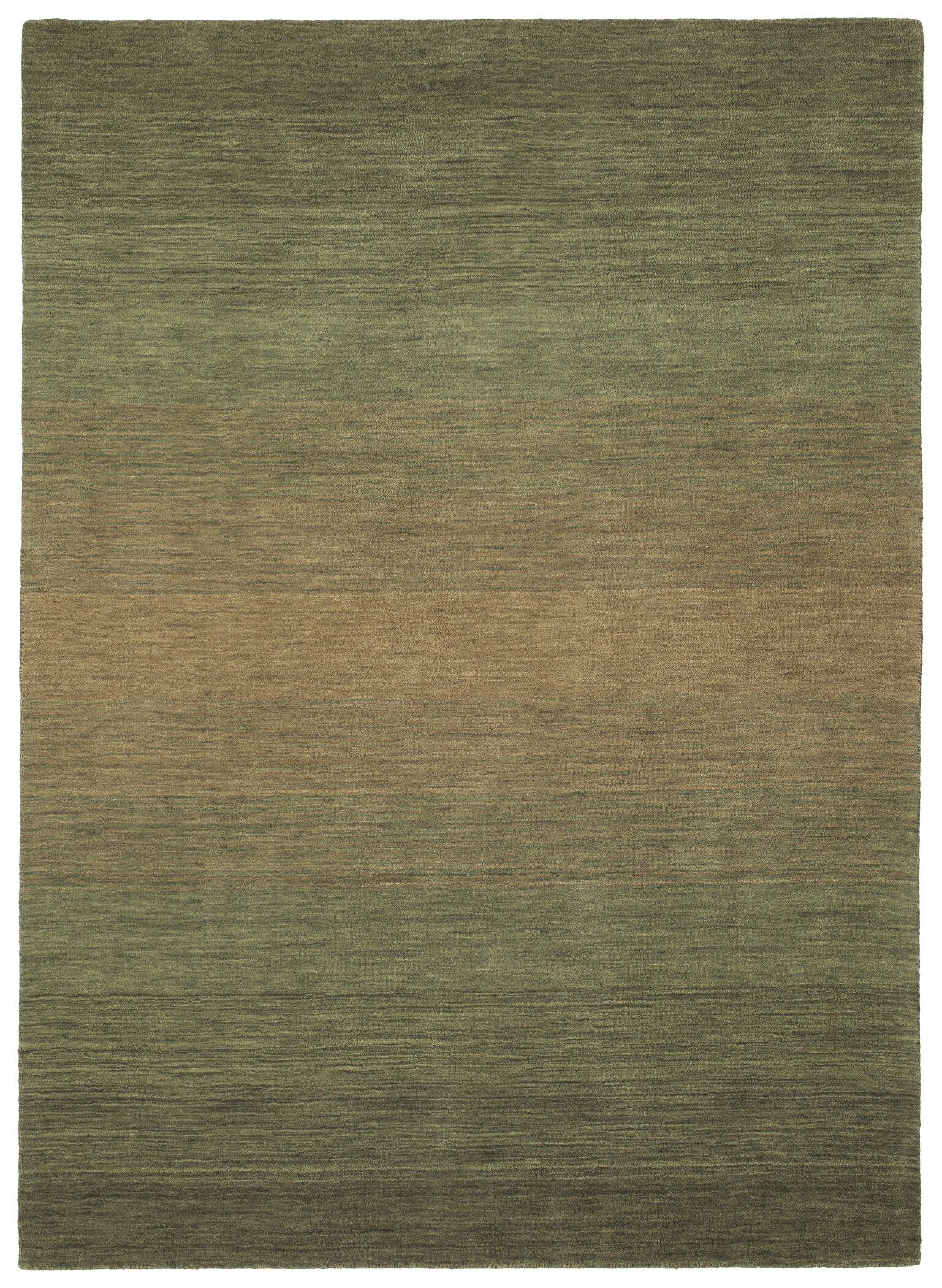Fortune Hand Tufted Wool Green Area Rug Rug Size: 7'6