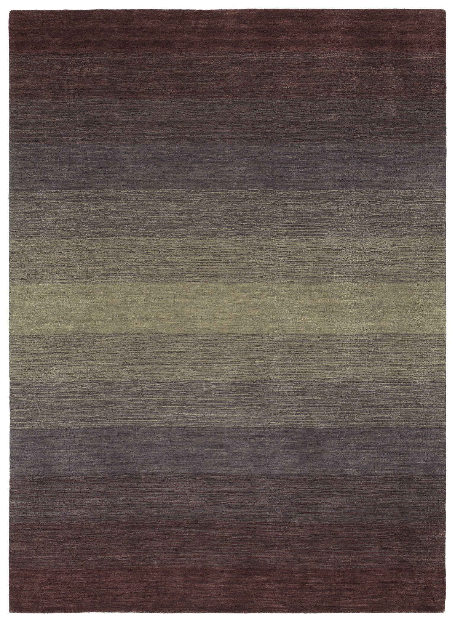 Fortune Hand Tufted Wool Purple Area Rug Rug Size: 5' x 7'6