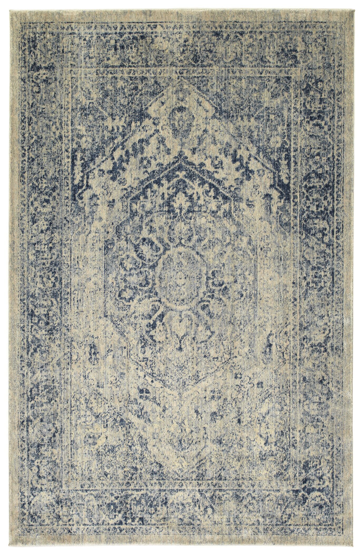 Jada Oriental Denim/Linen Area Rug Rug Size: Runner 2'7