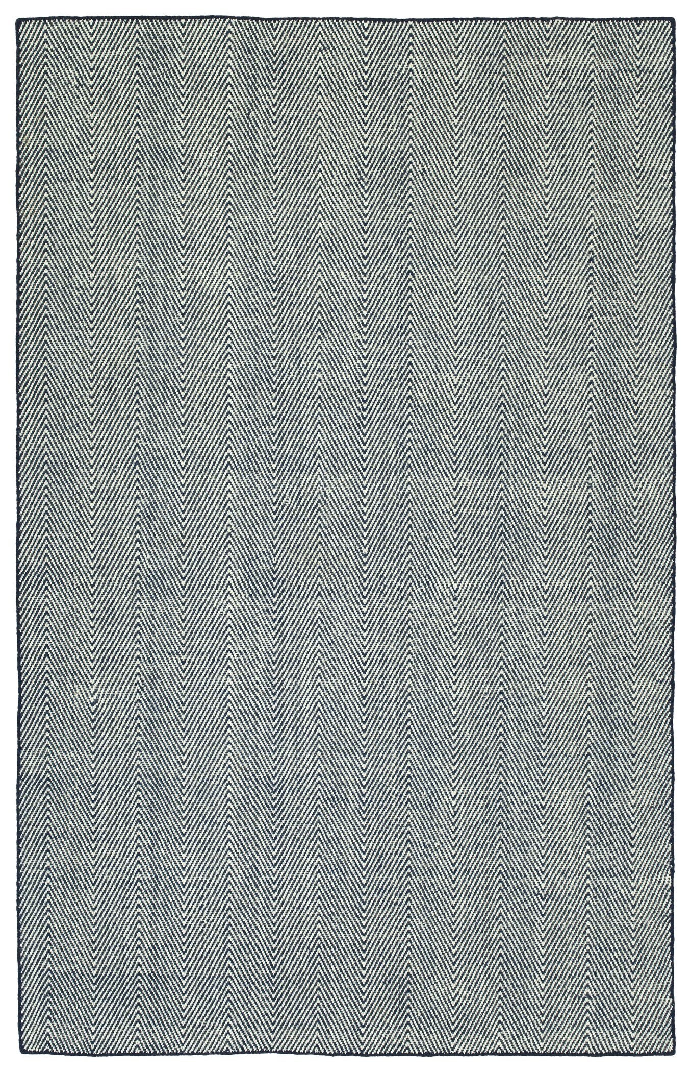 Buell Hand Woven Navy Indoor/Outdoor Area Rug Rug Size: Rectangle 2' x 3'