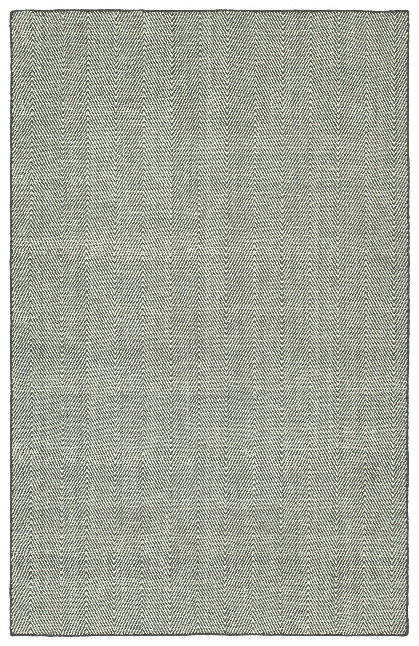 Buell Hand Woven Grey Indoor/Outdoor Area Rug Rug Size: Rectangle 8' x 10'