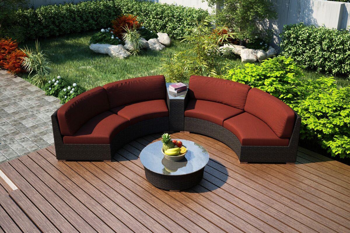 Arden 4 Piece Sunbrella Sofa Set with Cushions Fabric: Canvas Henna