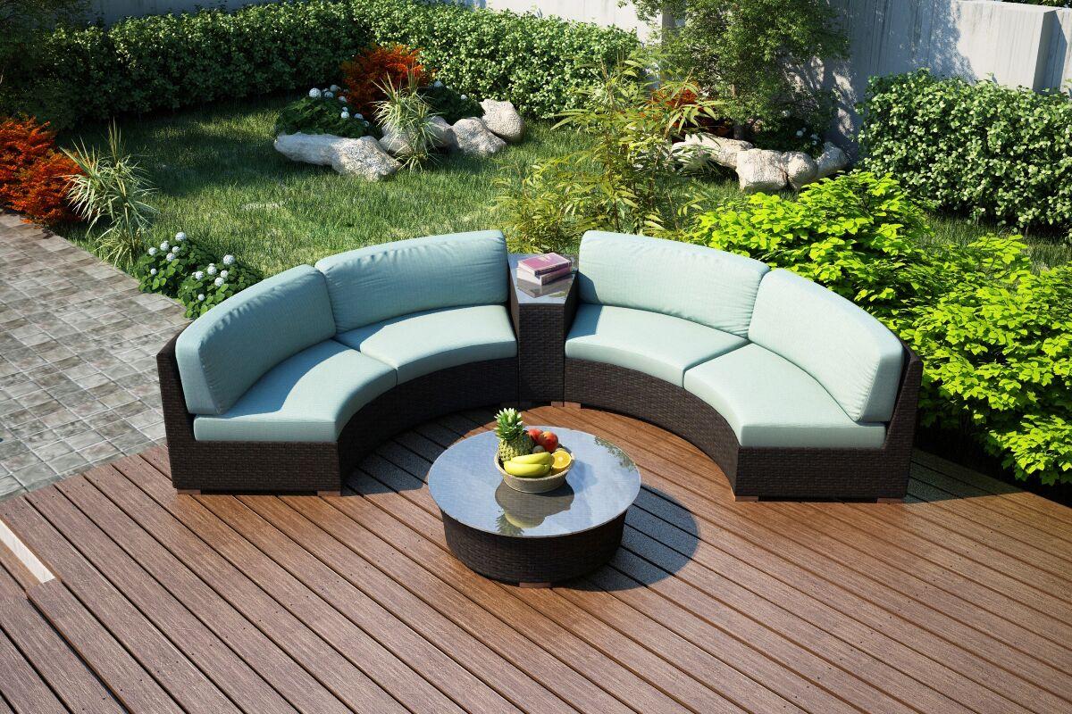 Arden 4 Piece Sunbrella Sofa Set with Cushions Fabric: Canvas Spa