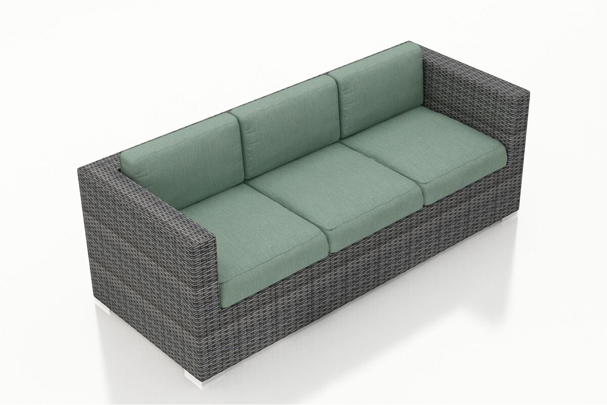 District Patio Sofa with Cushions Color: Canvas Spa