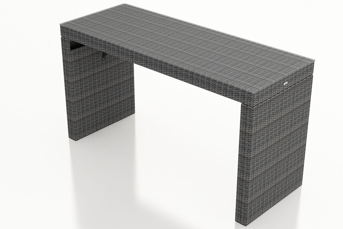 District 6-Seater Wicker Bar Table