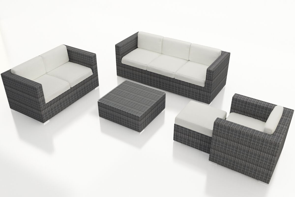 District 5 Piece Sunbrella Sofa Set with Cushions Fabric: Canvas Natural