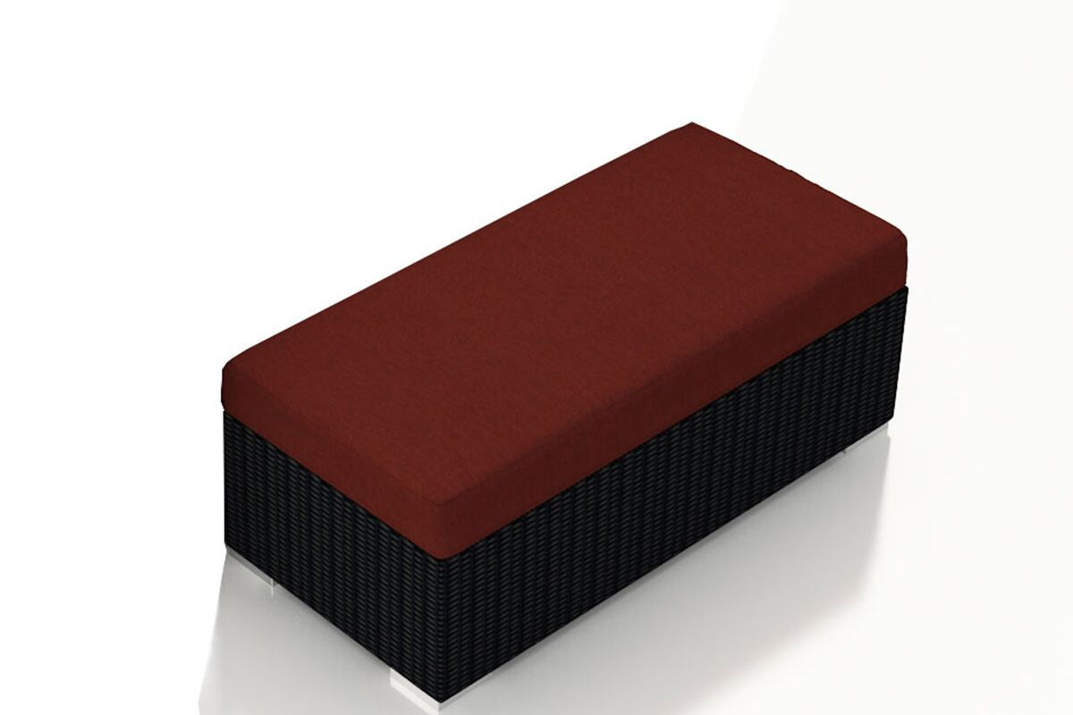 Urbana Double Ottoman with Cushion Fabric: Canvas Henna