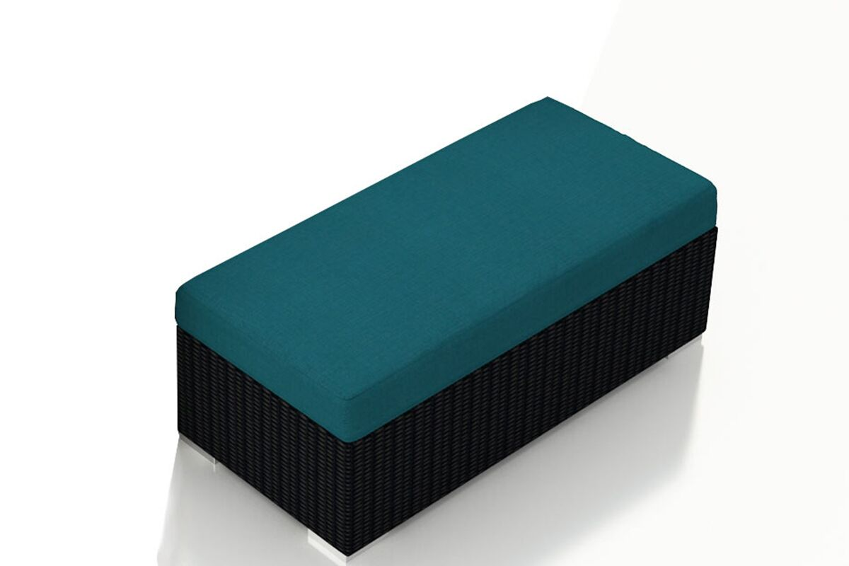 Urbana Double Ottoman with Cushion Fabric: Spectrum Peacock