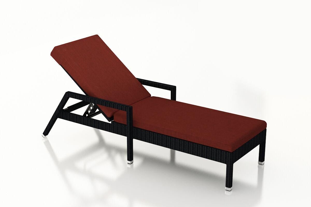 Urbana Reclining Chaise Lounge with Cushion Cushion Color: Canvas Henna