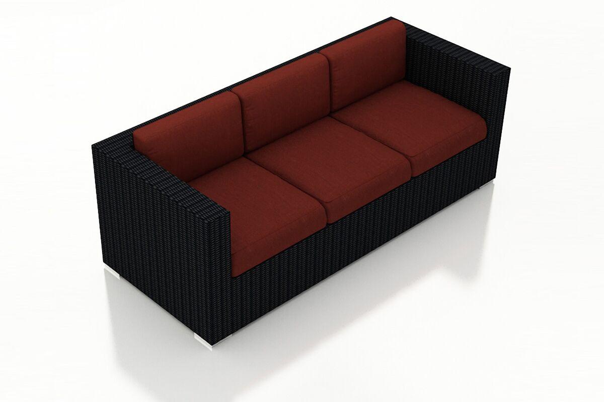 Urbana Patio Sofa with Cushions Color: Canvas Henna