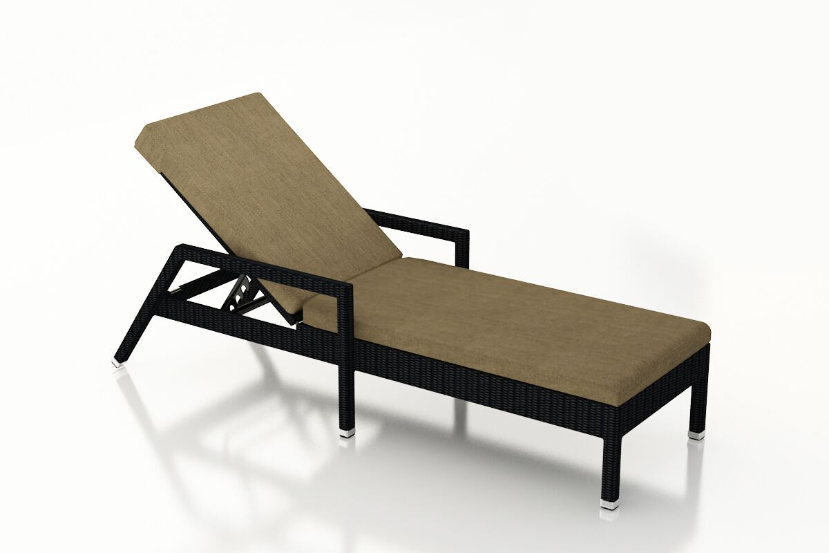 Urbana Reclining Chaise Lounge with Cushion Cushion Color: Heather Beige