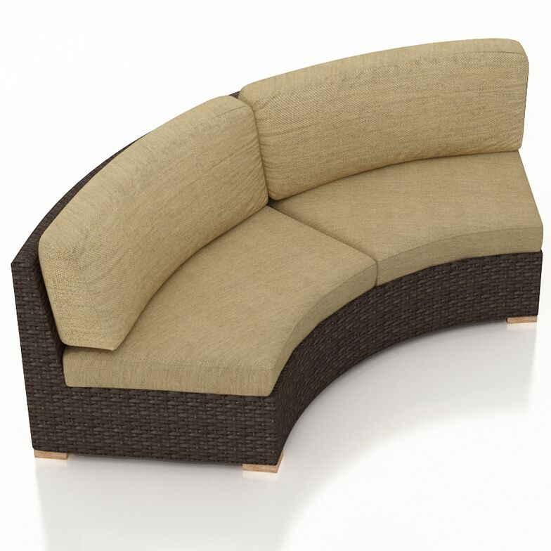 Arden Loveseat with Cushions Color: Heather Beige