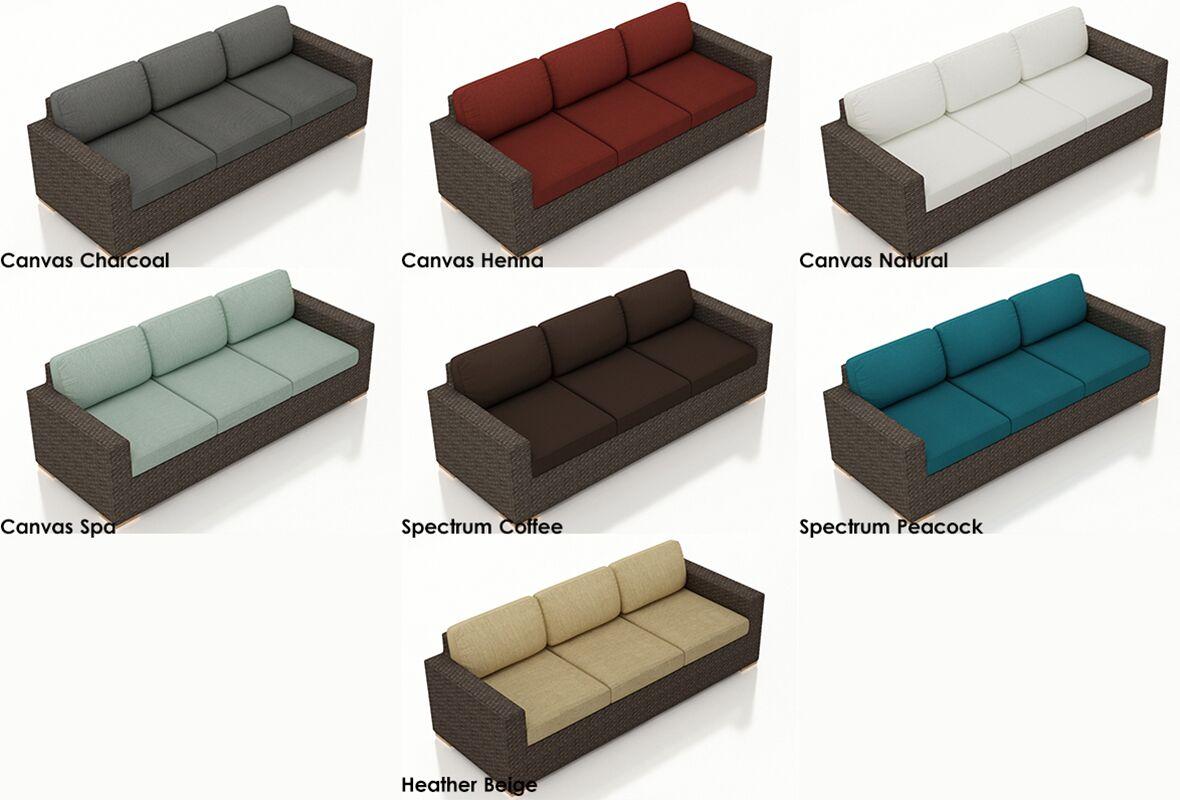 Arden Sofa with Cushions Color: Cast Lagoon