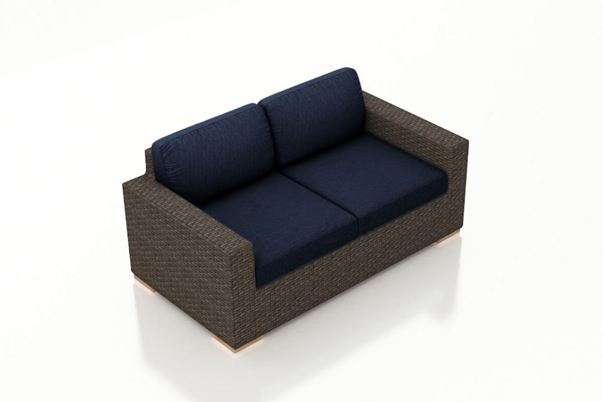 Arden Loveseat with Cushions Color: Spectrum Indigo