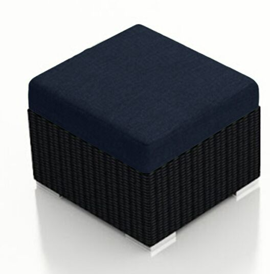 Urbana Ottoman with Cushion Fabric: Spectrum Indigo