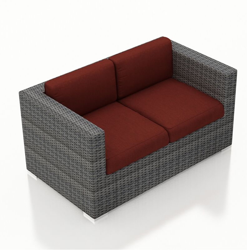 District Loveseat with Cushions Color: Canvas Henna