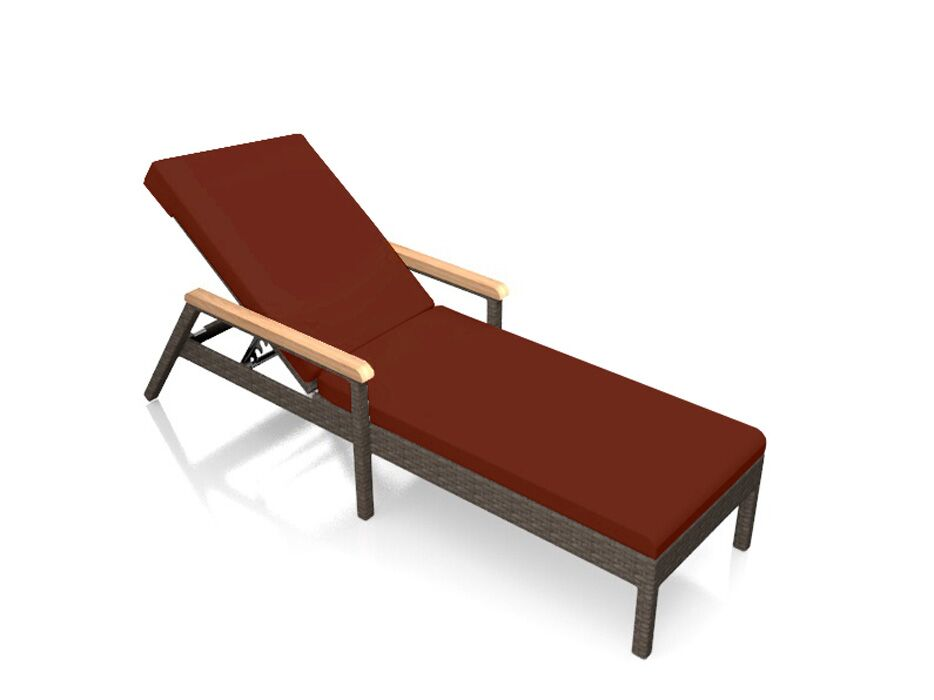 Arden Reclining Chaise Lounge with Cushion Color: Canvas Henna