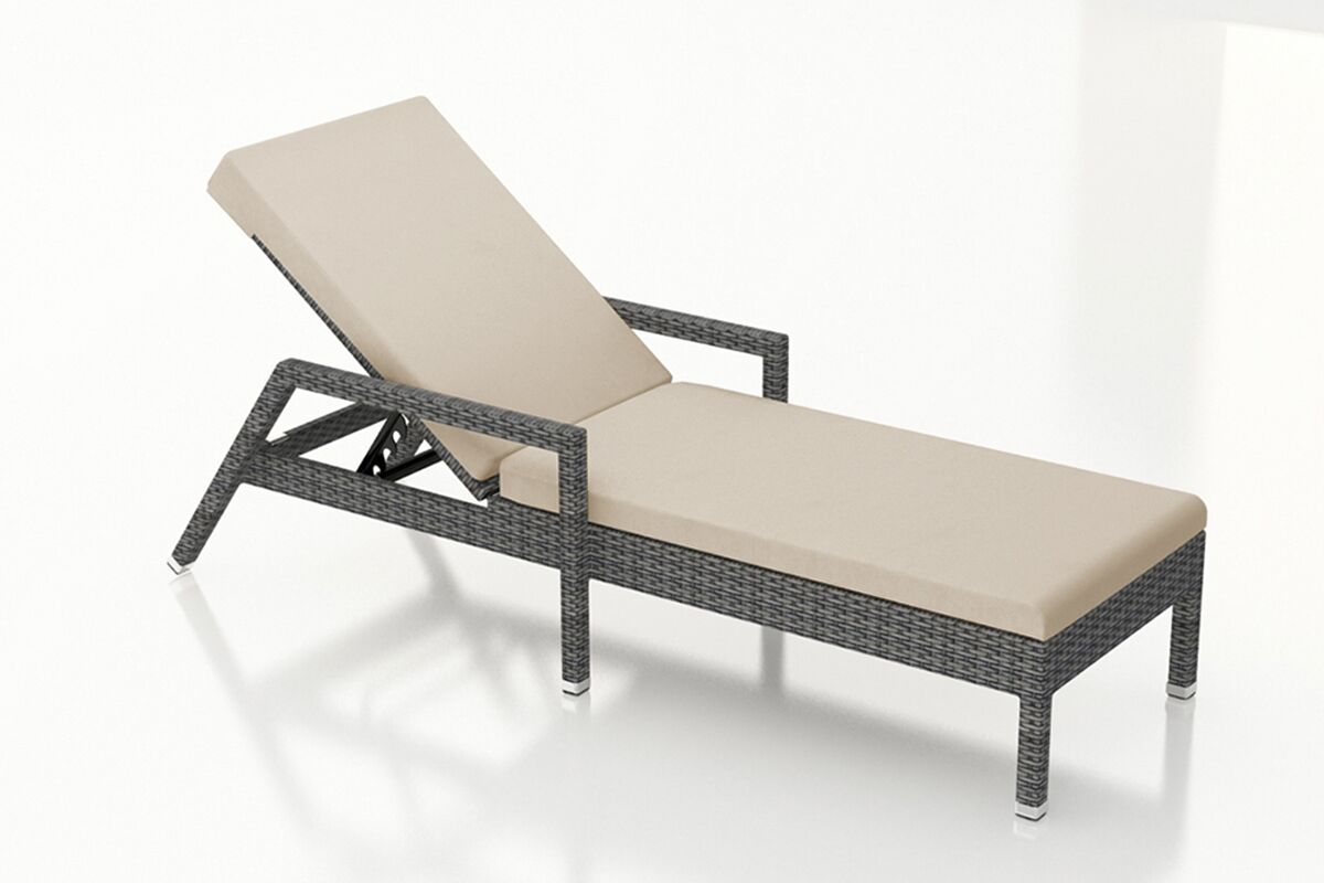 District Reclining Chaise Lounge with Cushion Color: Canvas Flax