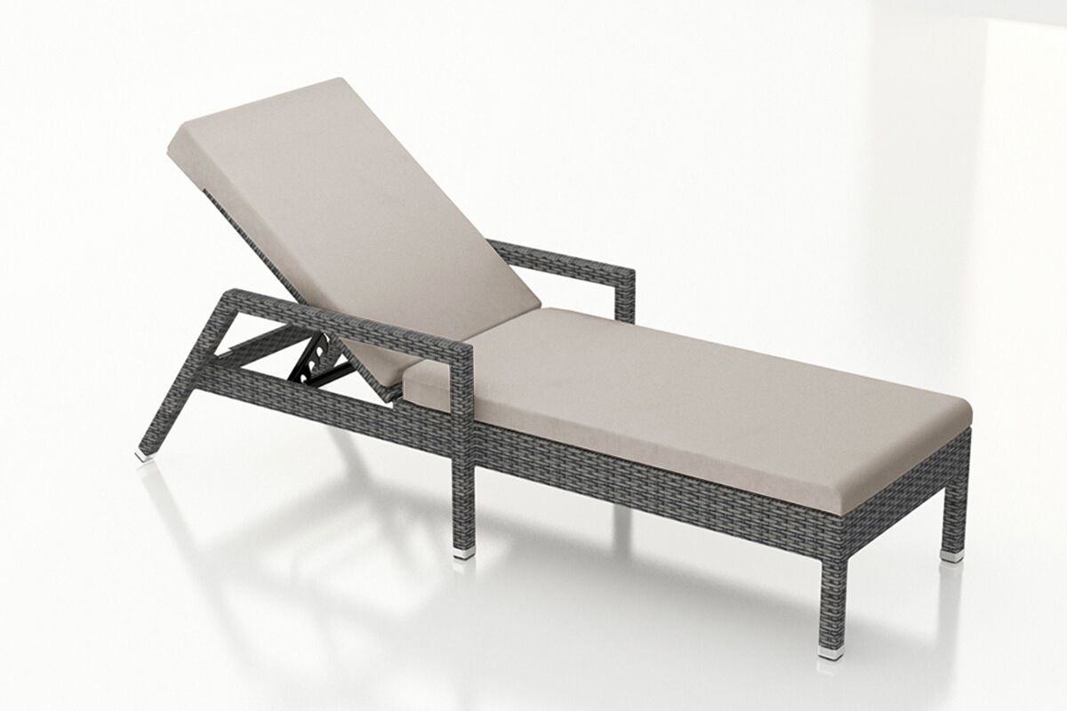 District Reclining Chaise Lounge with Cushion Color: Cast Silver
