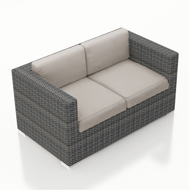 District Loveseat with Cushions Color: Cast Silver