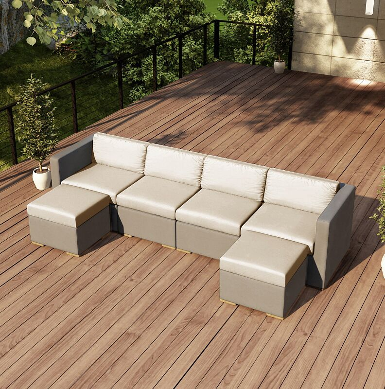 Element Sectional Color: Canvas Flax