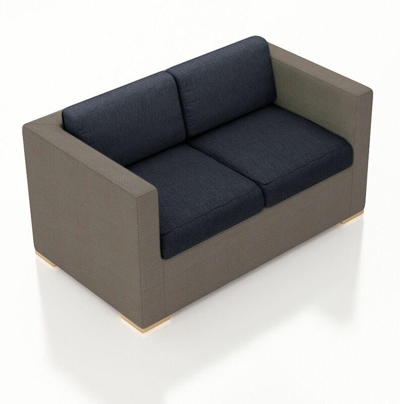 Element Loveseat with Cushions Color: Spectrum Indigo