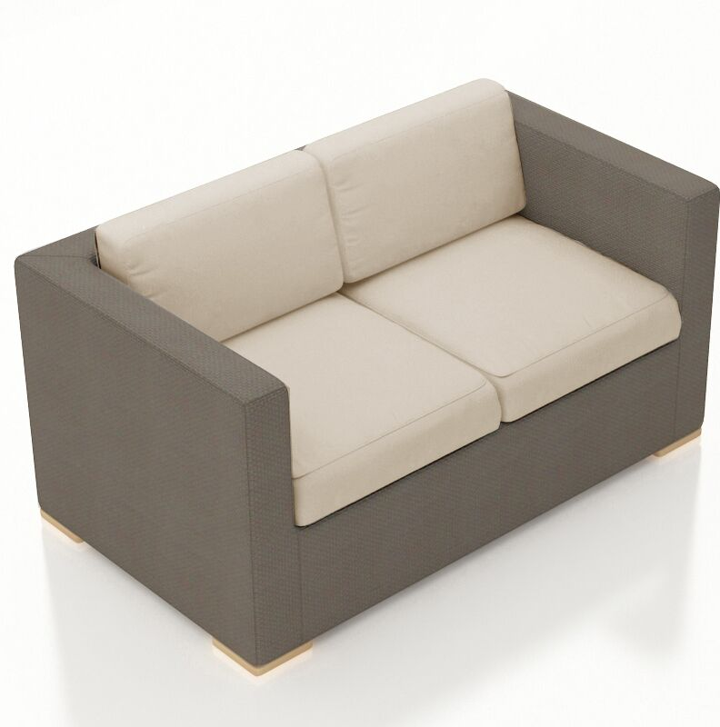 Element Loveseat with Cushions Color: Canvas Flax