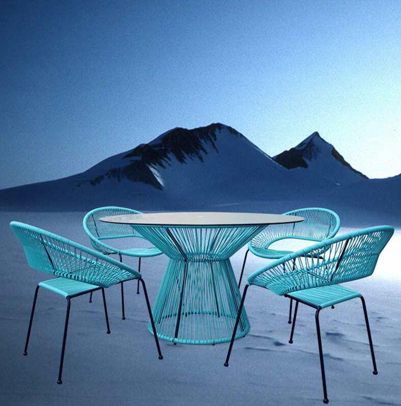 Ehrlich 5 Piece Dining Set Color: Glacier Blue