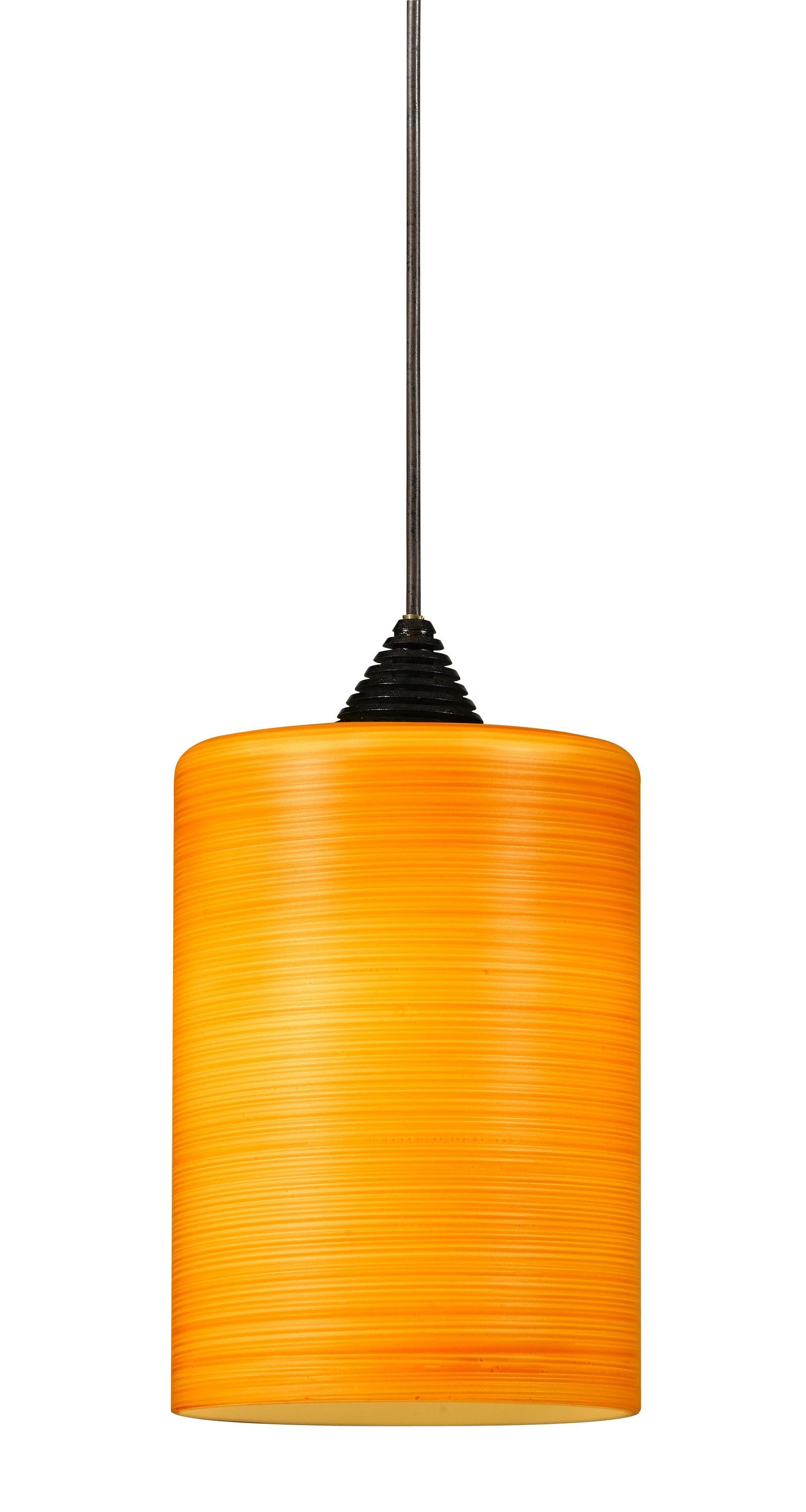 Brandy 1-Light Cylinder Pendant Base Finish: Dark Bronze