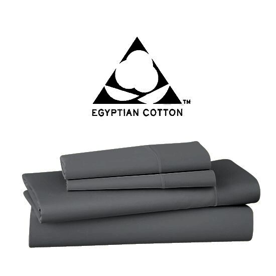 1000 Thread Count Egyptian Quality Cotton Extra Deep Pocket Sheet Set Size: Queen, Color: Charcoal