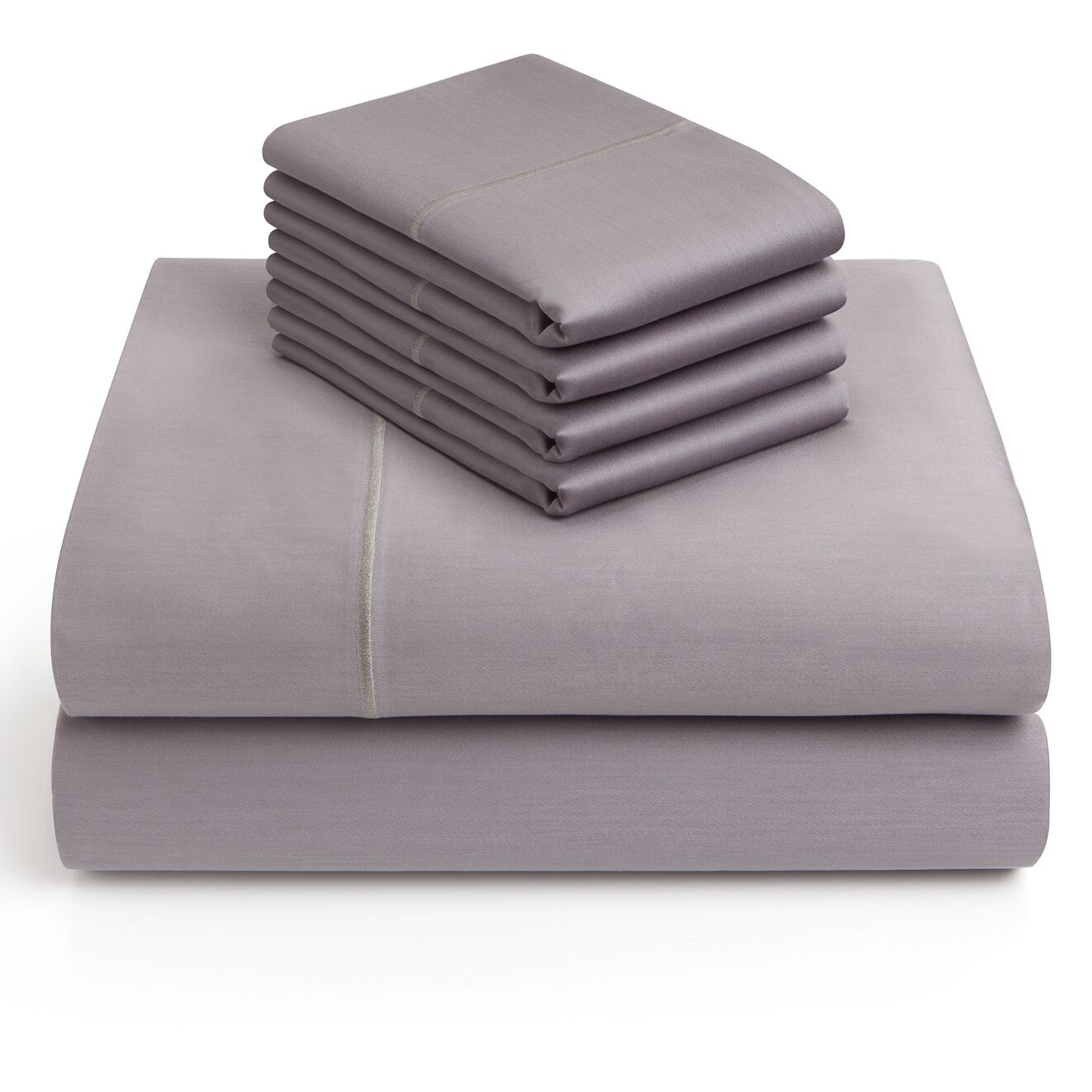 6 Piece 1000 Thread Count Sheet Set Color: Charcoal, Size: Queen