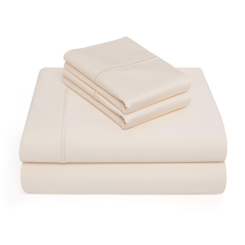 Allman 1000 Thread Count 100% Pima Cotton Sheet Set Color: Ivory, Size: Queen